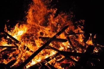 Lagerfeuer der Pfadfinder aus Augsburg